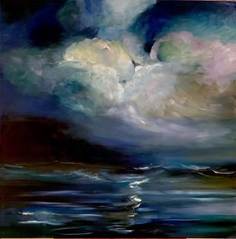 Sea Storm (2017) Oil on Canvas 100cmx100cm
