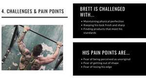 Challenges and pain points for ideal customer avatar.