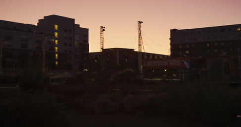 Setting Sun behind Constitution Yards.pn