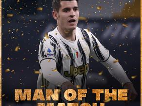 """Man of the match:Alvaro Morata """"Il Cavaliere in Armatura"""""""