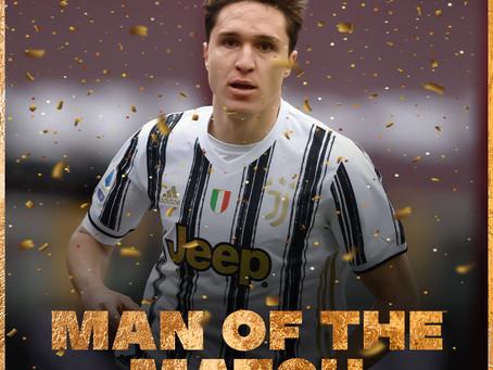 """Man of the match:  Federico Chiesa """"Il Giovane Pretoriano"""""""