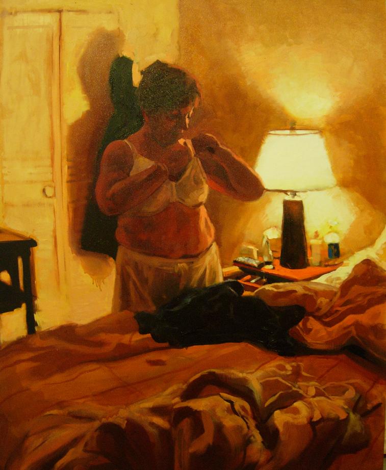 Carole by lamp, sm