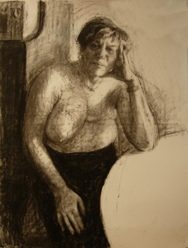 Carole drawing