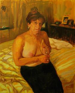 Carole on bed, sm