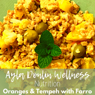 Oranges & Tempeh with Farro
