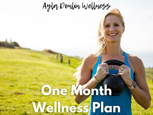 One Month Wellness Plan