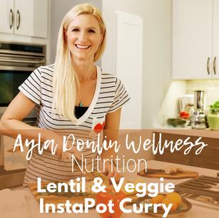 Lentil & Vegetable InstaPot Curry