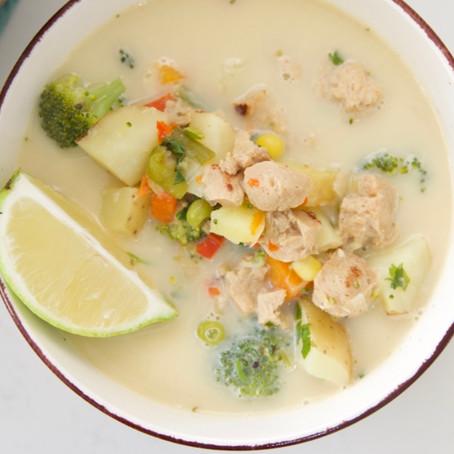צ׳אודר ירקות וסויה