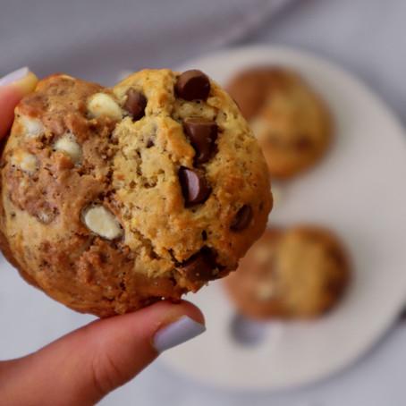 עוגיות שוקולד צ׳יפס חצי חצי
