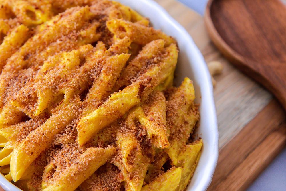 מאק אנד צ׳יז מק אנד צ׳יז טבעוני פסטה מוקרמת מקרוני עם גבינה טבעונית
