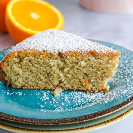 עוגת טורט תפוזים ללא ביצים ללא קמח