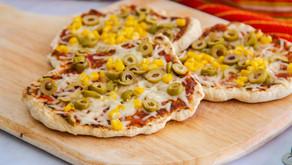 פיצה פיתה במחבת מבצק מהיר הכנה
