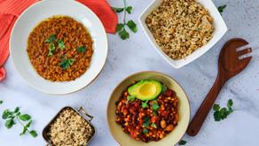 ארוחות בריאות ממוצרי מזווה וקופסאות שימורים