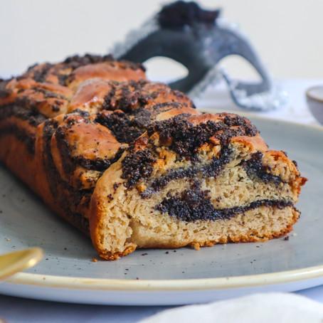 עוגת שמרים פרג טבעונית