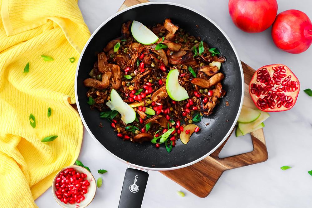 אורז מוקפץ חמוץ מתוק פרייד רייס אורז סיני טבעוני