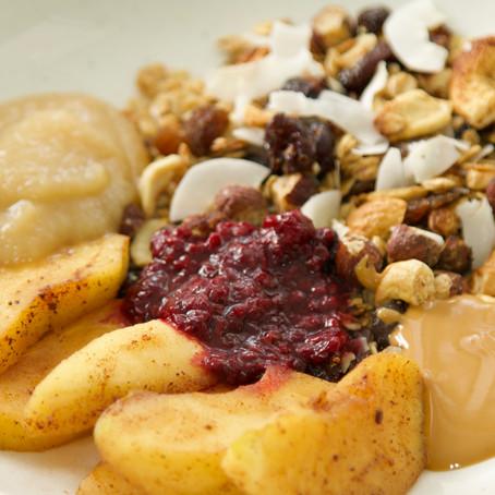 גרנולה אגוזים ופירות יבשים חורפית