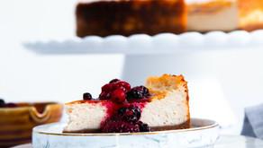 עוגת גבינה אפויה טבעונית ללא אגוזים
