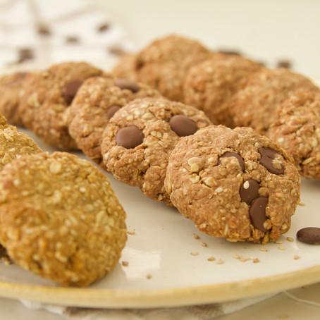 עוגיות גרנולה טבעוניות - אותו בסיס שלושה טעמים!
