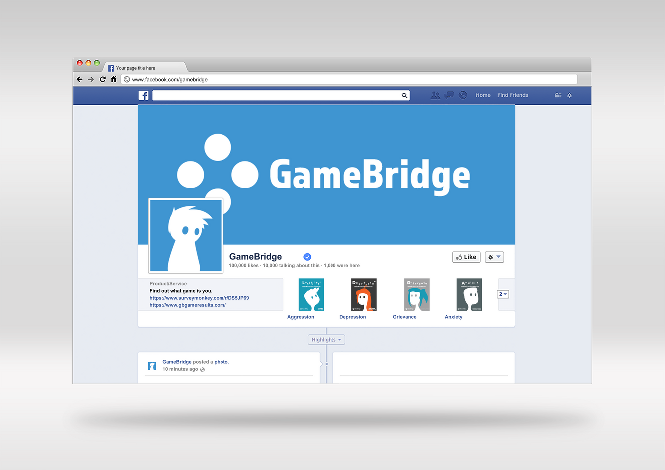 GameBridge Facebook Page
