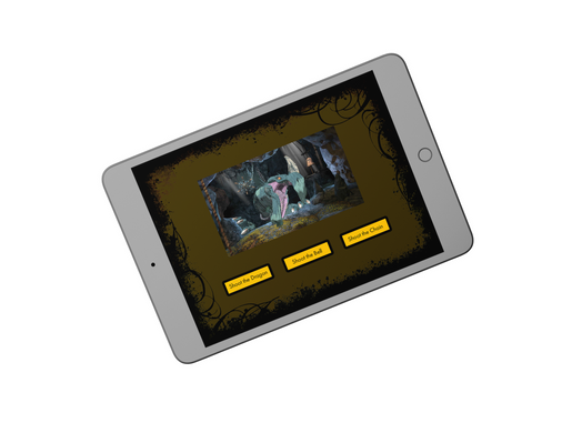 King's Quest Tablet Action Choices