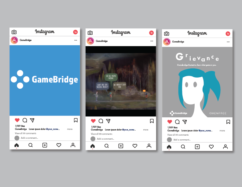 GameBridge Instagram Mockup