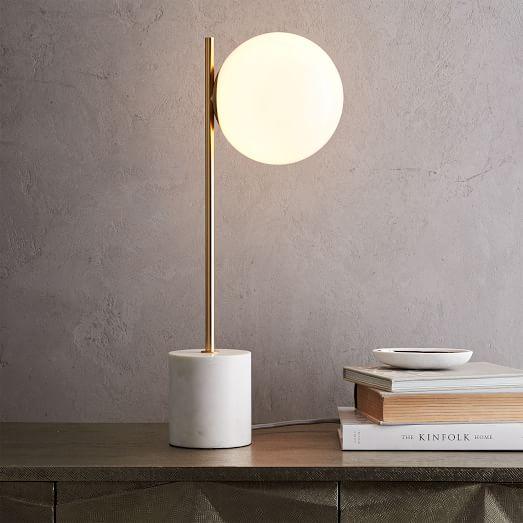 Sphere + Stem Table Lamp-West
