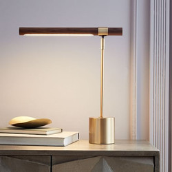 Linear Wood LED Table Lamp-West