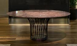 Flora Round Table Black-PC