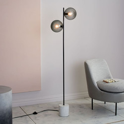 Sphere + Stem Floor Lamp-West