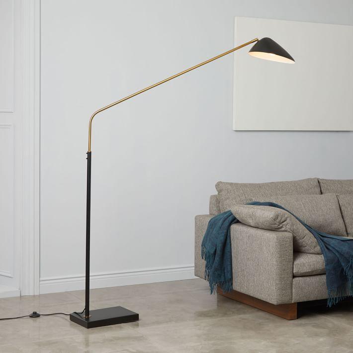 Overarching Curvilinear Mid Century Floor Lamp-West
