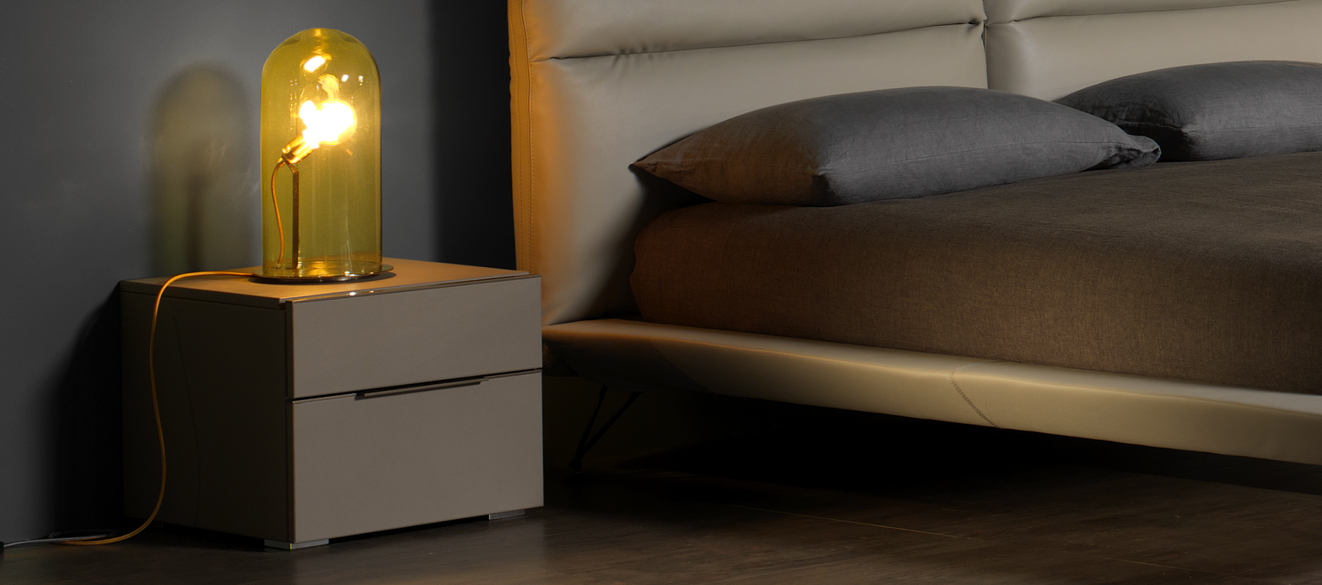 Square 3 Bedside Table-Cie