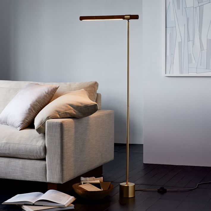Linear Wood LED Floor Lamp-West