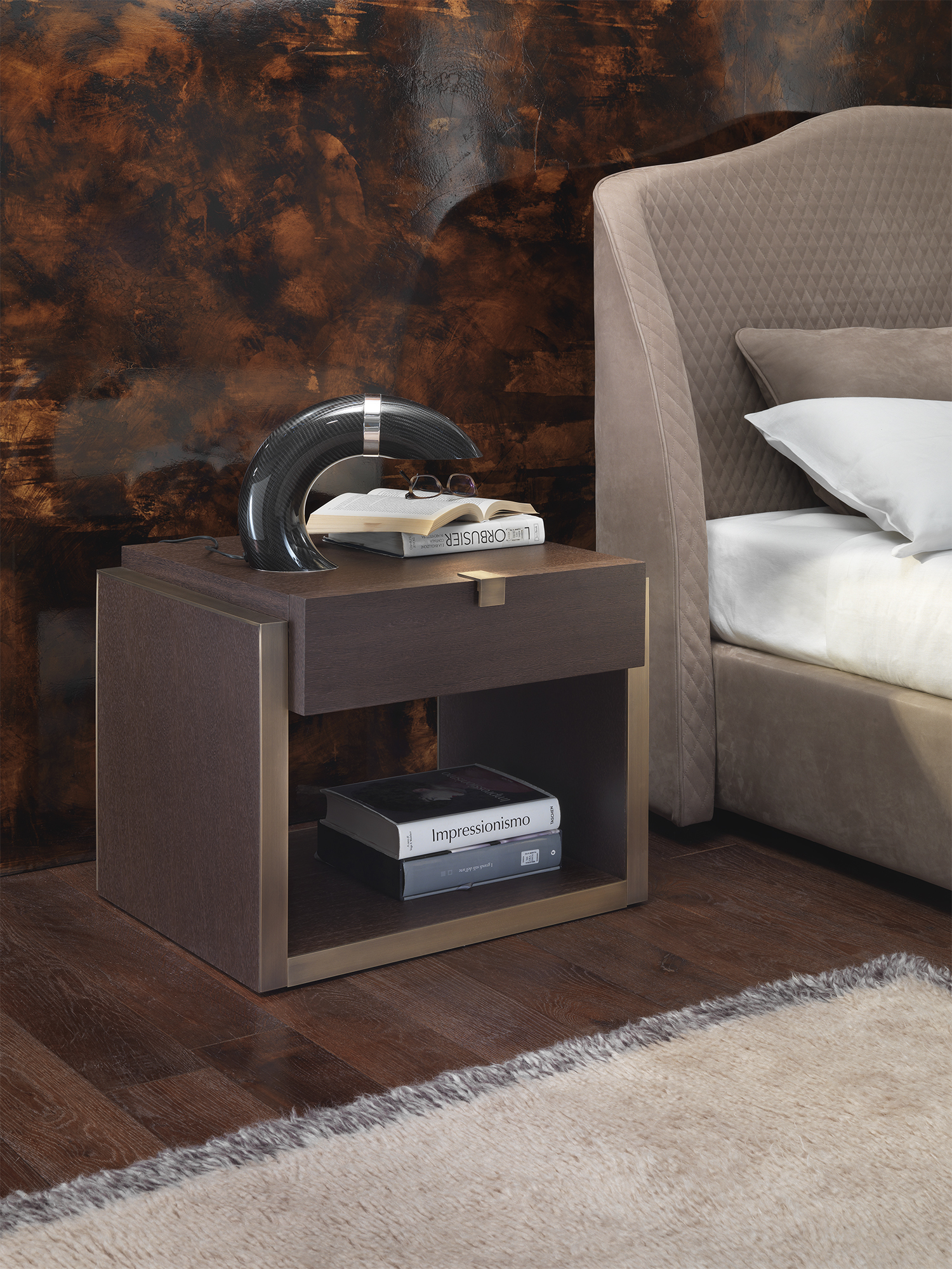 Lobdel Bedside Table-GM