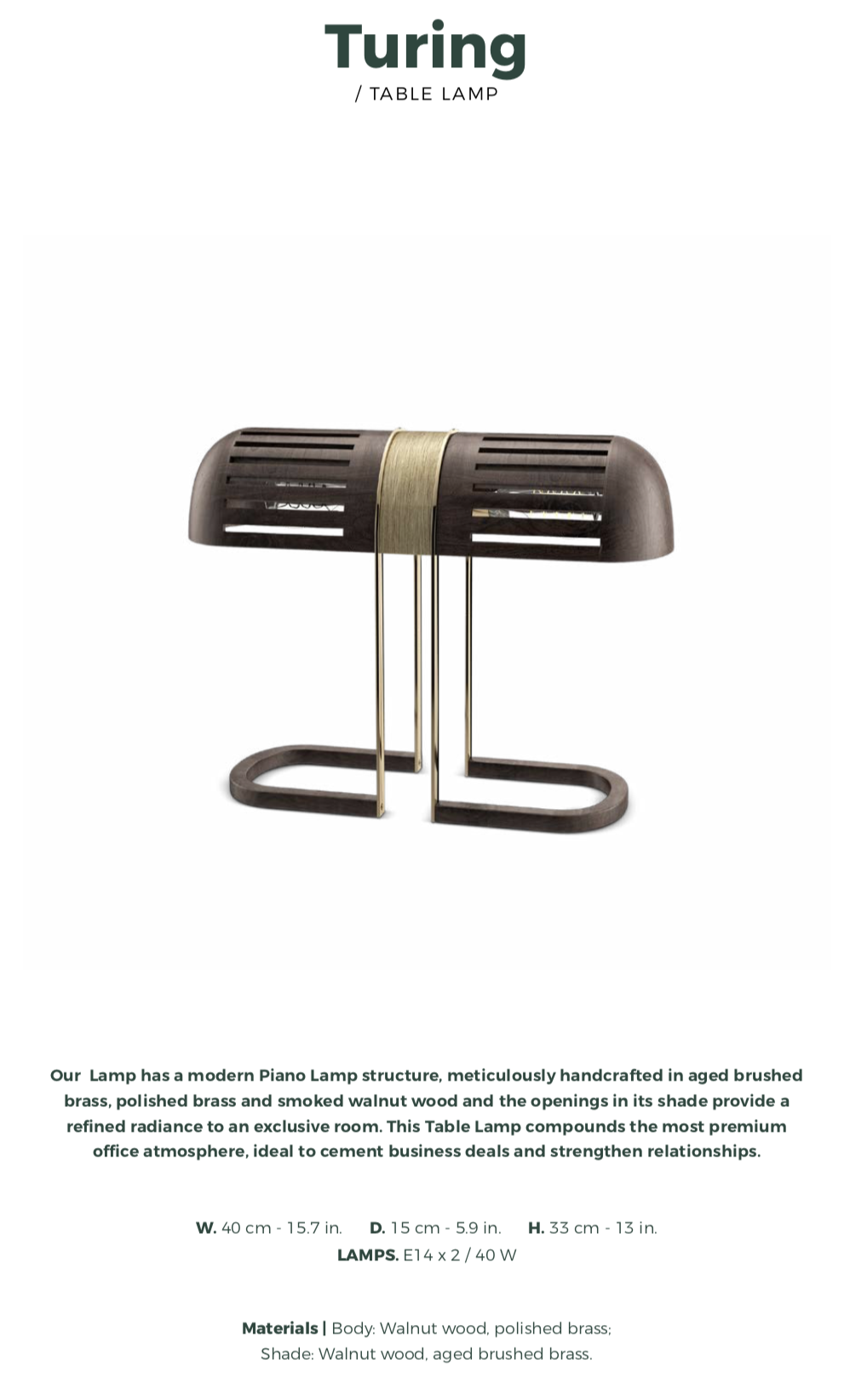 Turing Table Lamp-wood