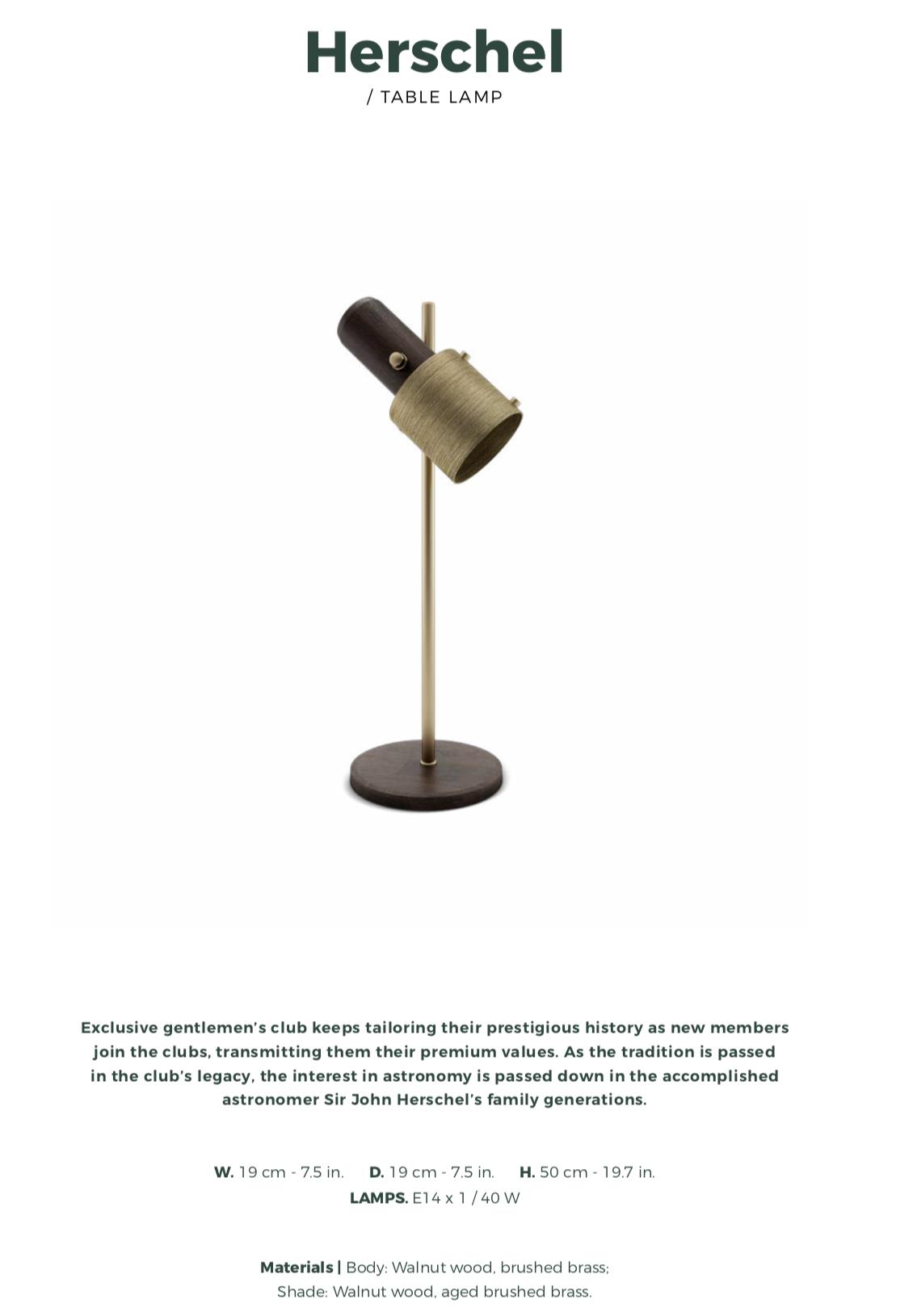 Herschel Table Lamp-wood