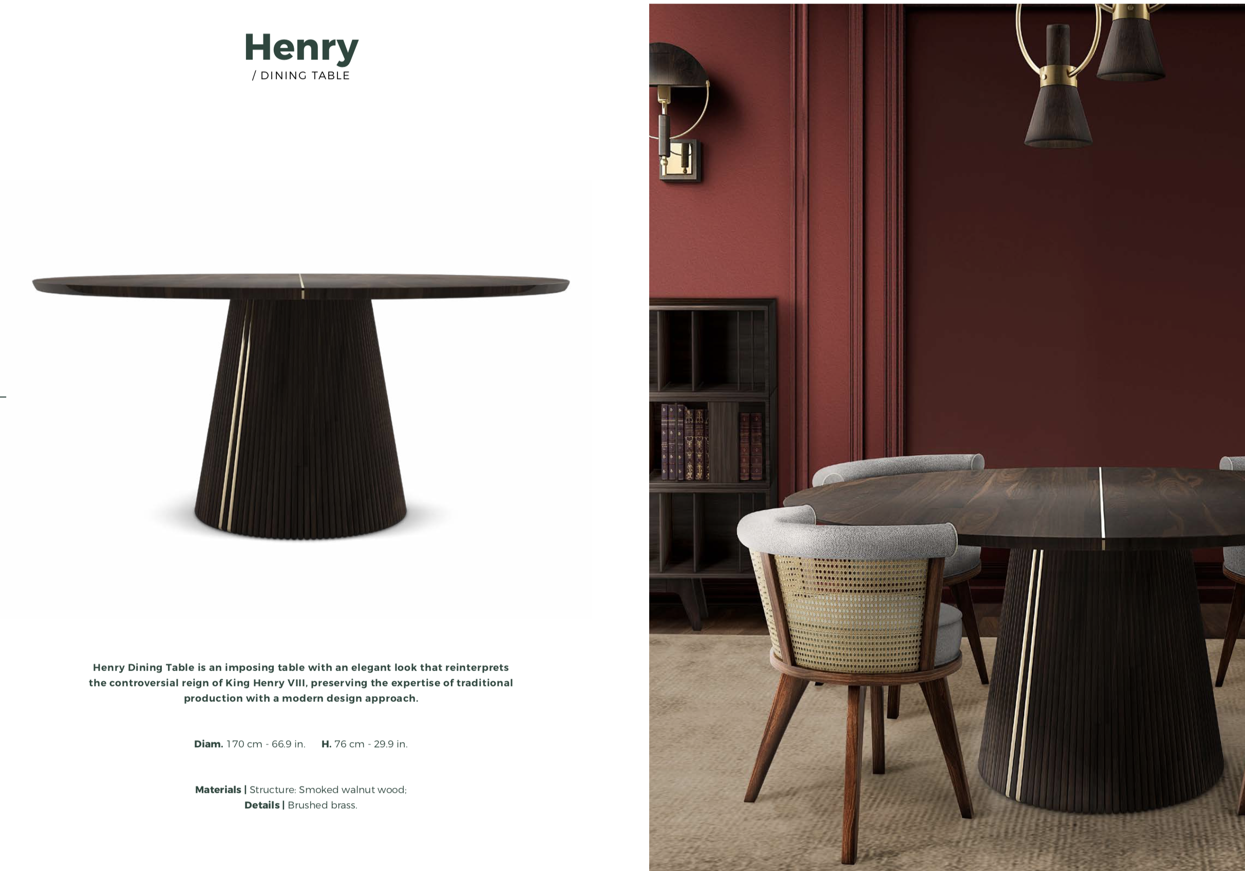 Henry Round Table-Wood