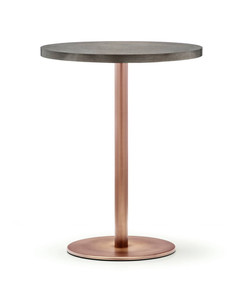 Inox Round Table-ped