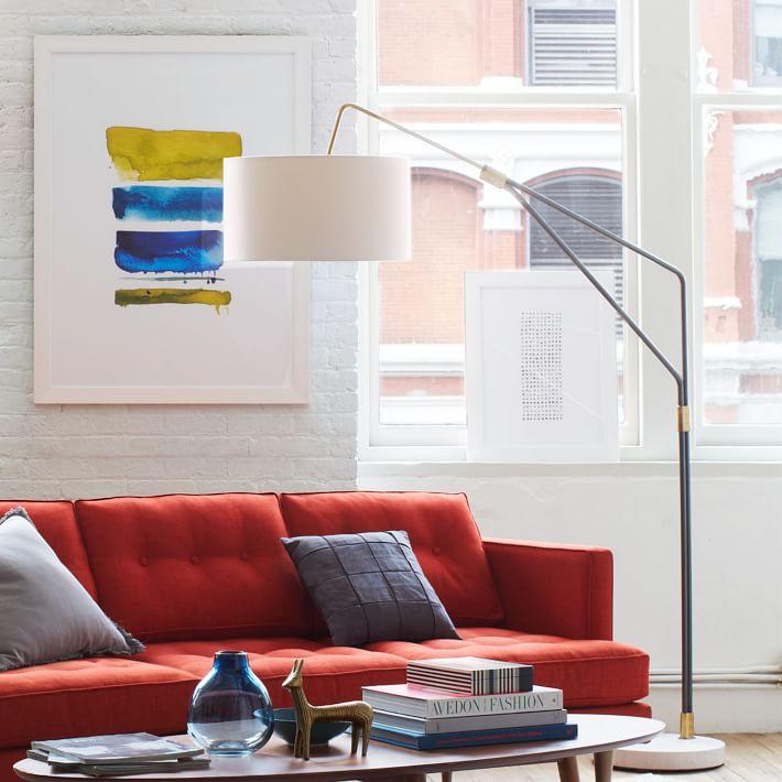 Mid Century Overarching Floor Lamp-West