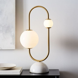 Framed Sphere Table Lamp-West