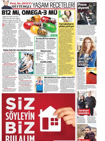 Hurriyet Newspaper Kelebek-9th December 2016_Page