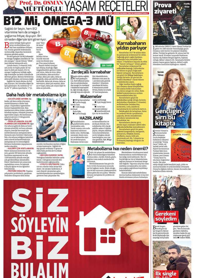 Hurriyet Newspaper Kelebek-9th December 2016_Page