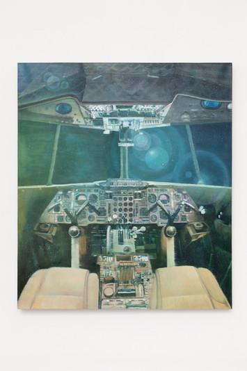Concorde Night Train 152.4 x 132.08 cm  Oil on linen