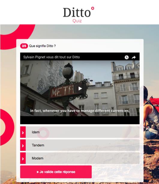 Quizz Vidéo Ditto
