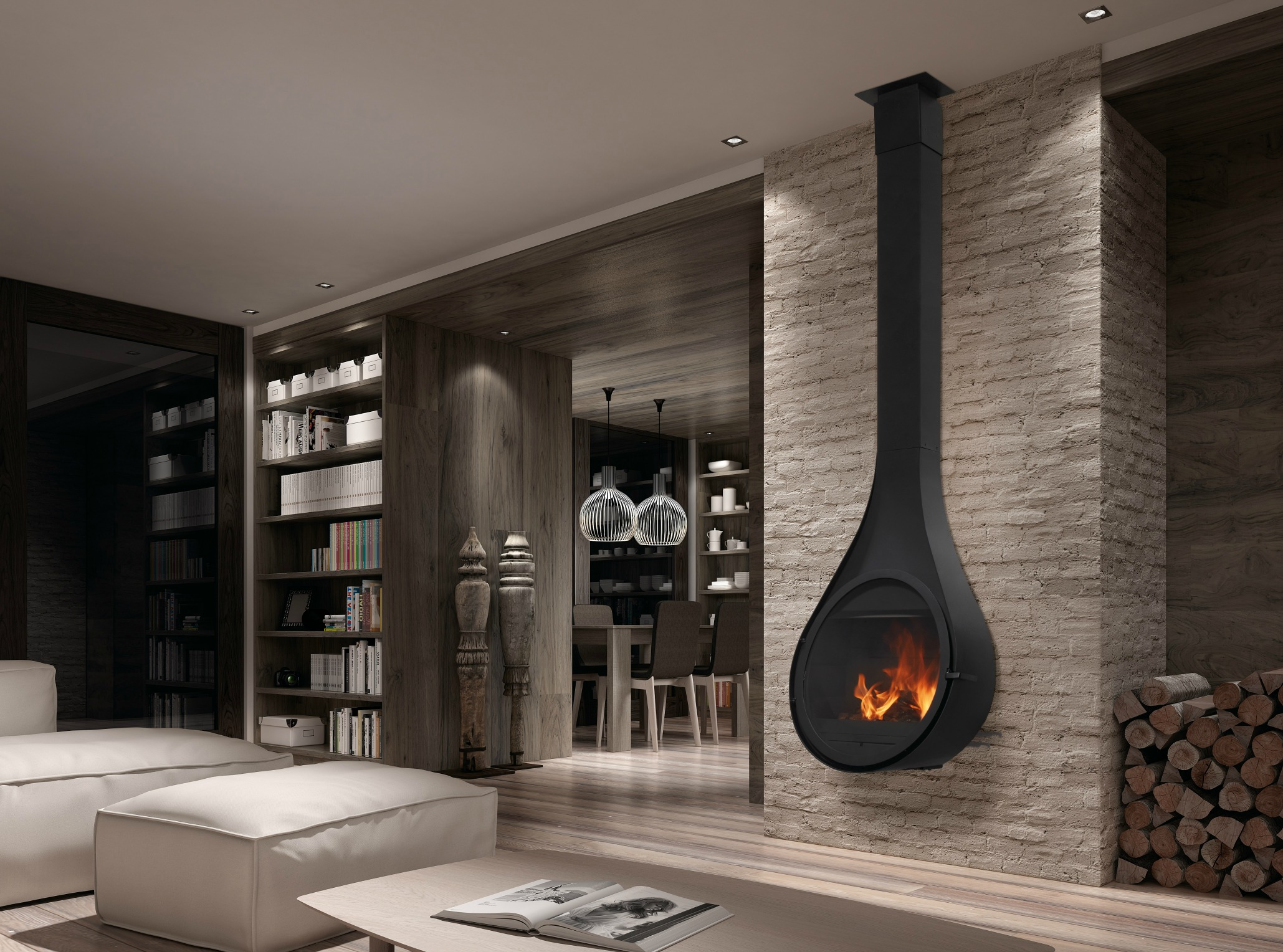 Rocal Drop Fireplace