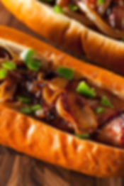 Grilled Bacon Hot Dogs