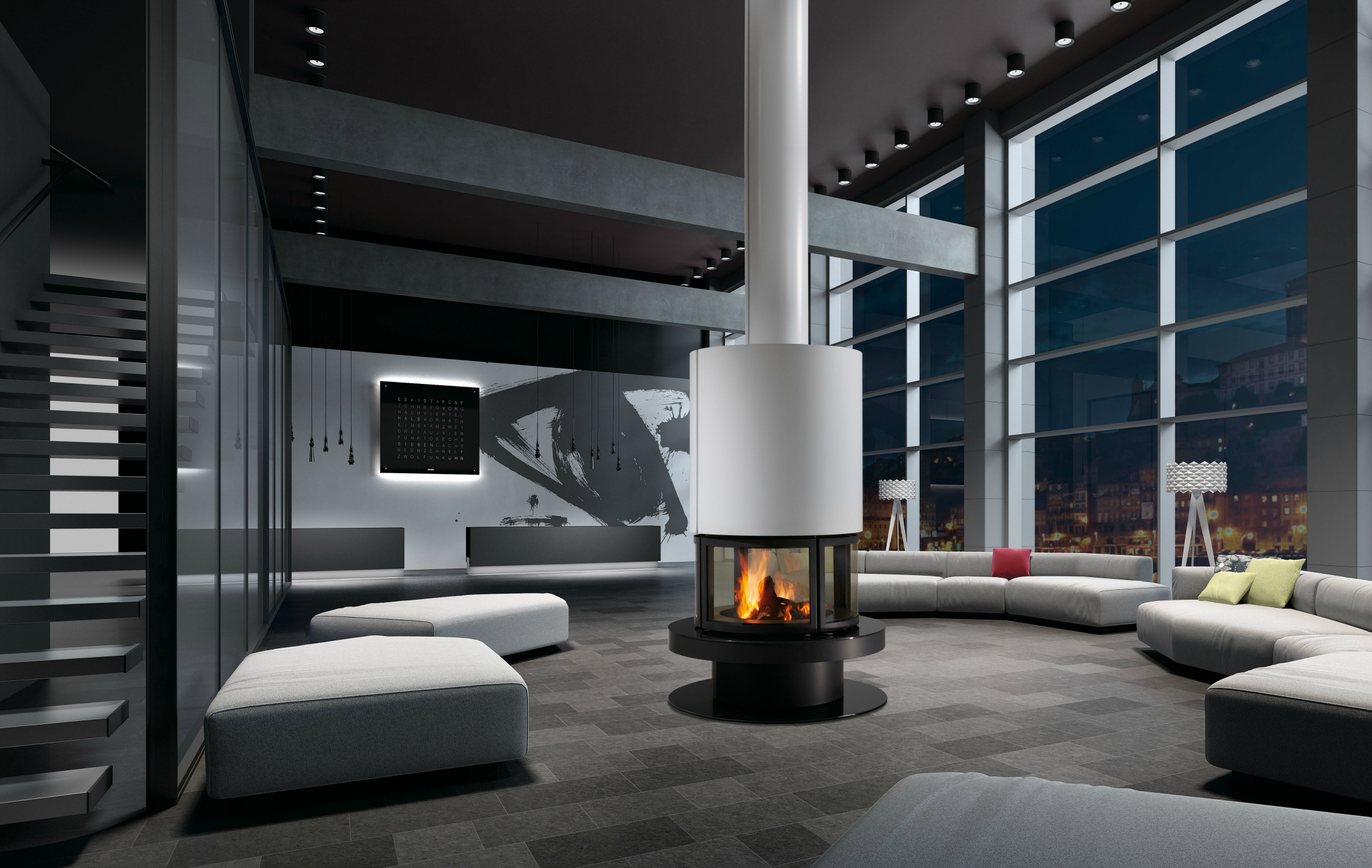 Rocal Prune Fireplace