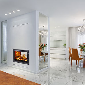 Woodfire RH Double Sided Insert Stove