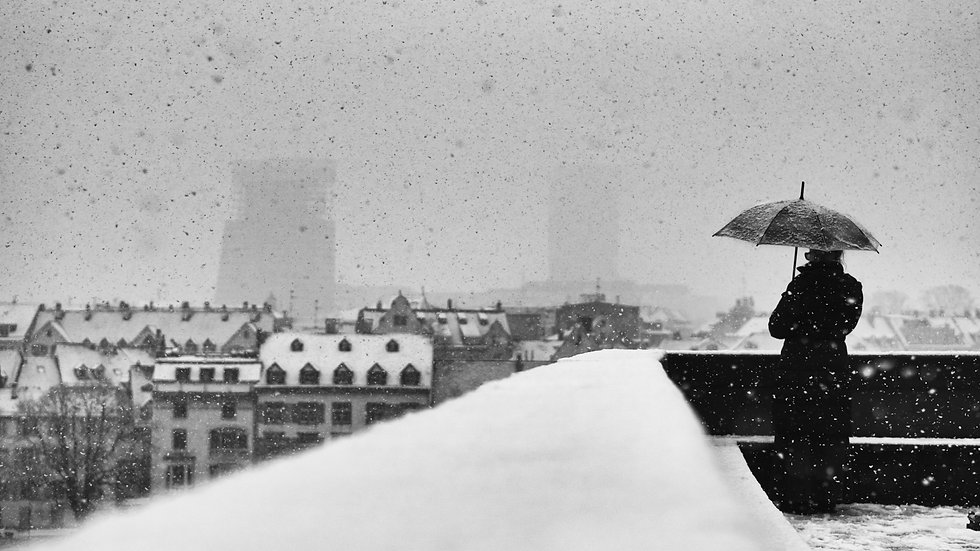 """From the series """"Snowfall over Basel"""" from January 2021 (signed special edition)"""