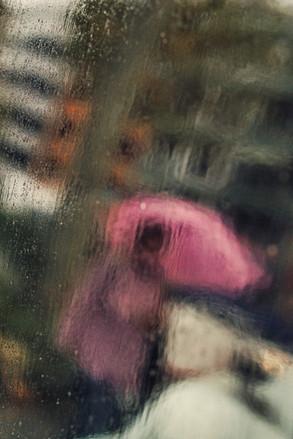 "Bastian Peter fine art street photography: ""Rose in the Rain"""