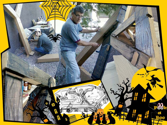 """""""Scary Fun and a Cardboard Box Barn"""" for the office! – Halloween at Ashley Furniture Downtown Las Ve"""